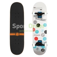 Скейтборд Lboard fish ball blue/wht 31""